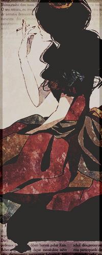 99px.ru аватар Девушка с сигаретой и короной на голове, арт мангаки Кана / art by Kana