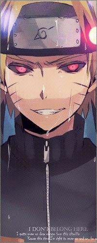 99px.ru аватар Демонический Наруто Узумаки / Uzumaki Naruto со стекающими по лицу каплями дождя, из аниме Наруто: Ураганные Хроники / Naruto: Shippuuden (I don't belong here)
