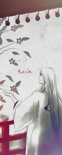 Аватар вконтакте Длинноволосый японский мужчина, нарисованный на вырванном из блокнота листе, стоя на мосту у перил под дождем протянул руку к цветущему дереву (rain / дождь)