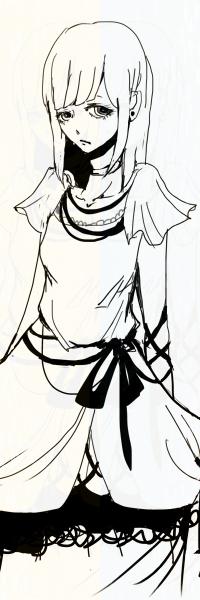 Аватар вконтакте Грустная девушка в белом платье, art by Sadlers из галереи Surgery And Dorlis