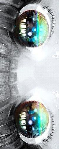Аватар вконтакте Радужные глаза анимешной девушки