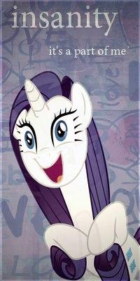 99px.ru аватар Rarity / Рарити из мультсериала Мои маленькие пони: Дружба — это чудо / My Little Pony: Friendship Is Magic (insanity its a part of me / безумие это часть меня)