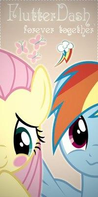 Аватар вконтакте Fluttershy / Флаттершай и Rainbow Dash / Рэйнбоу Дэш из мультсериала Мои маленькие пони: Дружба — это чудо / My Little Pony: Friendship Is Magic (forever together / вместе навсегда)