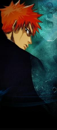 Аватар вконтакте Kurosaki Ichigo / Куросаки Ичиго из аниме Блич / Bleach косо смотрит на тебя