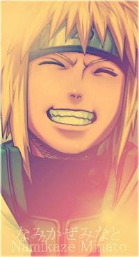 Аватар вконтакте Минато Намиказе / Minato Namikaze из аниме Наруто / Naruto широко улыбается