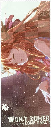 Аватар вконтакте Ибуки Суйка / Ibuki Suika из игры Тохо / Touhou на фоне звездного неба и полной луны