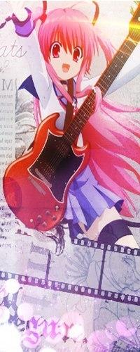 Аватар вконтакте Yui / Юи из аниме Пульс Ангела / Ангельские ритмы / Angel Beats! с гитарой