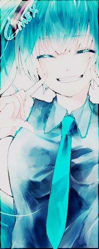 Аватар вконтакте Vocaloid Hatsune Miku / Вокалоид Хатсуне Мику показывает улыбку (Смех)