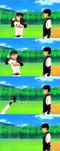 Аватар вконтакте Ren Mihashi / Рэн Михаси и Abe Takaya / Такая Абэ из аниме Ookiku Furikabutte / Замахнись сильнее