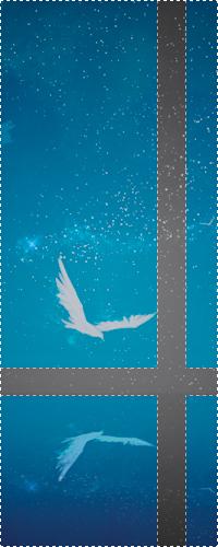 Аватар вконтакте Белая птица на фоне ночного неба, отражается в воде
