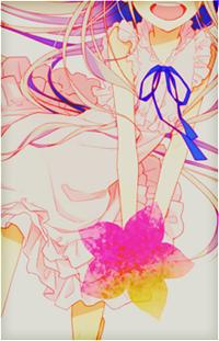 Аватар вконтакте Радостная Мэнма (Мэйко Хонма) / Menma (Meiko Honma) из аниме Невиданный цветок / А нам все невдомек, как звался тот цветок / Ano Hi Mita Hana no Namae wo Bokutachi wa Mada Shiranai / AnoHana с цветком в руках
