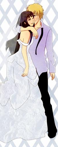 Аватар вконтакте Наруто Узумаки / Uzumaki Naruto и Хината Хьюго / Hinata Hyuugo из аниме Наруто / Naruto в свадебном наряде