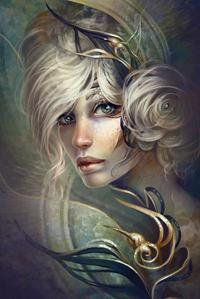 Аватар вконтакте Блондинка с зелеными глазами и золотыми украшениями, автор Jennifer Healy