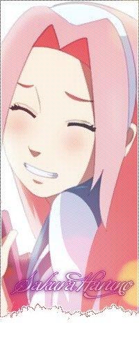 Аватар вконтакте Haruno Sakura / Сакура Харуно в школьной форме улыбается, из аниме Naruto Konoha High School / Наруто: старшая школа