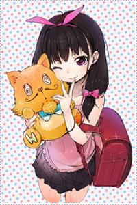 Аватар вконтакте Милая девушка с рюкзаком за спиной с плюшевой игрушкой кота