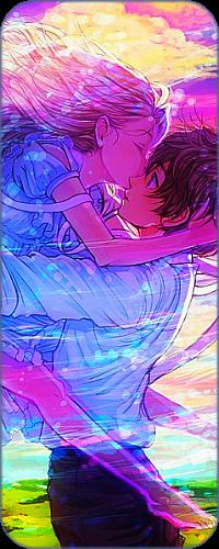 Аватар вконтакте Призрачная девушка целует парня