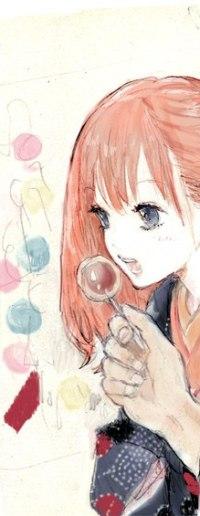 Аватар вконтакте Кагура / Kagura из аниме Гинтама / Gintama выдувает мыльные пузыри