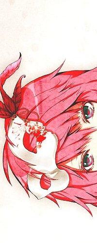 Аватар вконтакте Розоволосая девушка с цветными глазами стоит в маскарадной маске