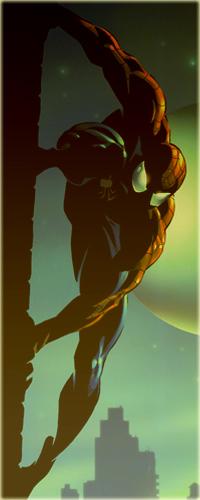 Аватар вконтакте Персонаж мультсериала, комиксов и фильмов - Человек-Паук / Spider-man / Peter Parker / Питер Паркер на крыше дома ночью при луне