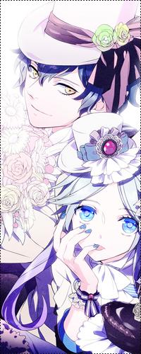 Аватар вконтакте Парень в шляпе держит в руке букет цветов, рядом стоит девушка в шляпе приложив руку к лицу