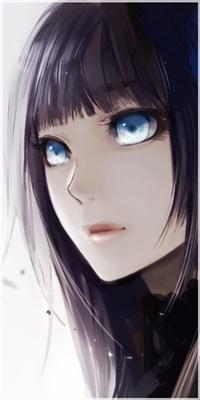 Аватар вконтакте Девушка с темными волосами и ярко-голубыми глазами, арт мангаки Aoshiki