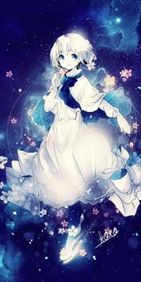 Девушки в белом платье аниме