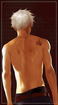 рисунок обнаженного парня со спины