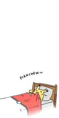 Аватар вконтакте Пикачу / Pikachew из аниме Покемон / Pokemon лежит в кровати, заправленной одеялом с рисунком покемонбола (Pikachew~ Pikabar / Пикачу~ Пикаместо)