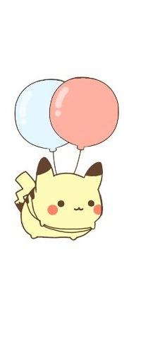 99px.ru аватар Пикачу / Pikachew из аниме Покемон / Pokemon летит на воздушных шариках