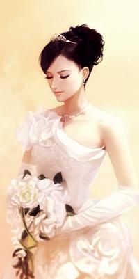 Девушки в свадебном платье арт