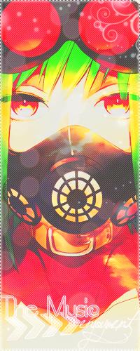 99px.ru аватар Vocaloid Gumi Megpoid / Вокалоид Гуми Мегпоид в ошейнике и респираторе (The Music enjoyment)
