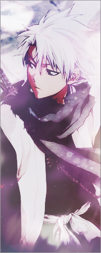 Аватар вконтакте Hitsugaya Toushirou / Хитсугая Тоширо из аниме Bleach / Блич зимой, с катаной за спиной, оборачивается