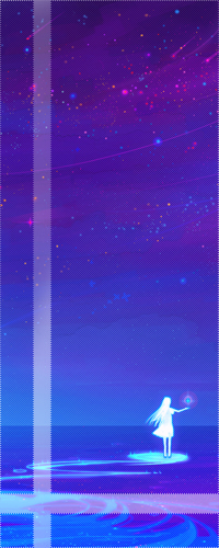 99px.ru аватар Светящийся силуэт девушки со звездочкой над ладонью, ночью, стоящей на воде, на фоне звездного неба