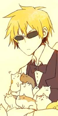 Аватар вконтакте Heiwajima Shizuo / Шизуо Хейваджима из аниме Дюрарара / Всадник без головы / Durarara! с котятами