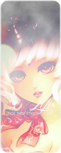 Аватар вконтакте Белокурая девушка, нарисованная в стиле аниме, с огненными глазами, с украшениями на голове и бантом с красной розой, с облетающими лепестками, на шее (Life not that much to say)
