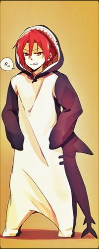 Аватар вконтакте Маленький Рин Мацуока / Matsuoka Rin из аниме Свободный стиль! - Плавательный клуб старшей школы Иватоби / Free! – Iwatobi в костюме акулы