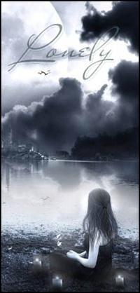 99px.ru аватар Девушка сидит у реки, возле нее горящие свечи, (lonely / одинокая)