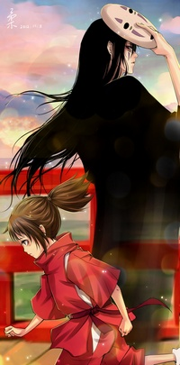 Аватар вконтакте Ogino Chihiro / Тихиро Огино и Каонаси / Kaonashi из аниме Spirited Away / Унесенные призраками