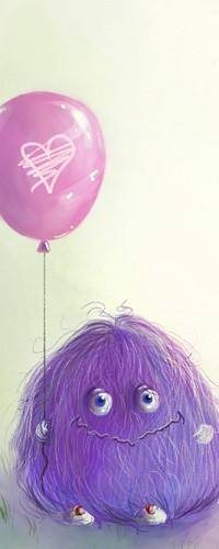 картинка чудика с шариком