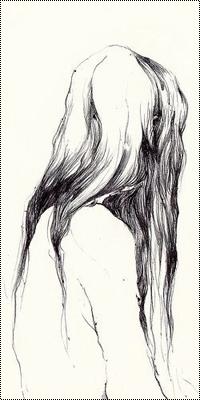Аватар вконтакте Черно-белый рисунок девушки