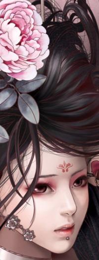 Аватар вконтакте Девушка с цветком в волосах