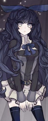 Аниме тян с длинными волосами