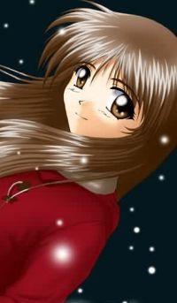 Аватар вконтакте Девушка в красном под снежком