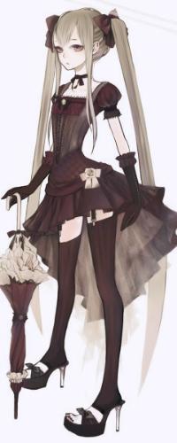 Девушка в платье коротком аниме