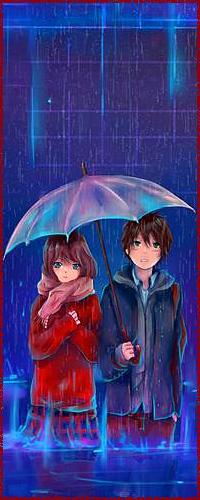 Аватар вконтакте Парень и девушка под зонтиком, работа English summer rain / английский летний дождь, автор gabrielleragusi