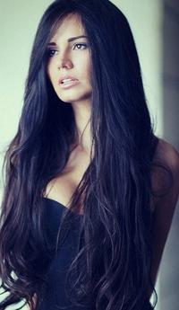 фото красивых девушек с чернымм волосами