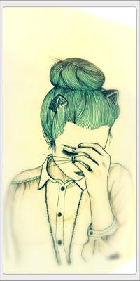 Аватар вконтакте Девушка с зелеными волосами и кошачьими ушками и усами, художник Indi Maverick