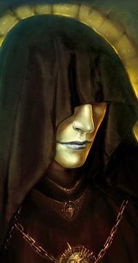 Аватар вконтакте Мужчина с бледным лицом, которое прикрывает капюшон, арт от by ArchiaOryix
