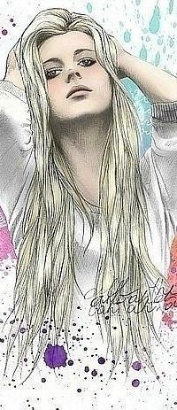 Фото нарисованных блондинок на аву