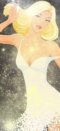Аватар вконтакте Красивая блондинка в белом платье